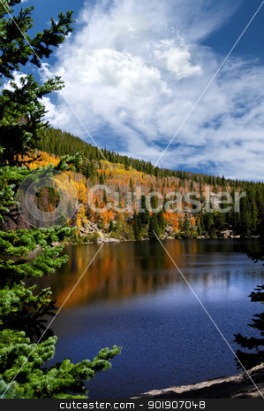 Fall at Bear Lake stock photo, Fall at Bear Lake, in the Rocky Mountain National Park, Colorado by Bonnie Fink