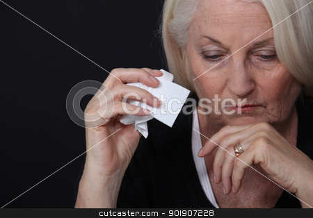 Sad old woman stock photo, Sad old woman by photography33