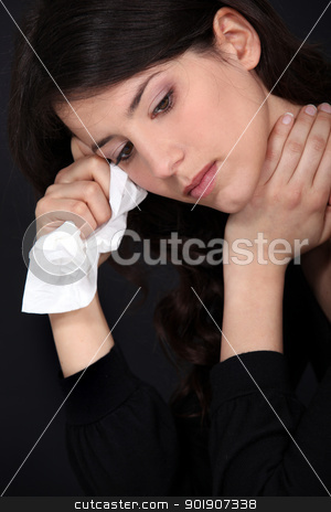 A crying woman. stock photo, A crying woman. by photography33