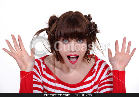 Surprised girl stock photo, Surprised girl by photography33