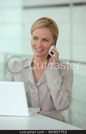 Businesswoman on the phone stock photo, Businesswoman on the phone by photography33