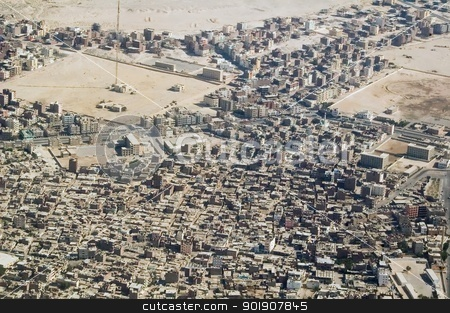 View at Hurghada stock photo, Hurghada town on Red Sea from air view by Aikon