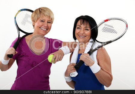 Friends playing tennis stock photo, Friends playing tennis by photography33