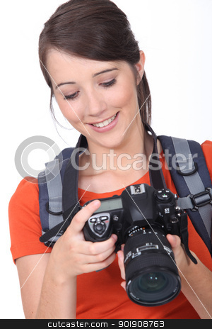 young female photographer stock photo, young female photographer by photography33