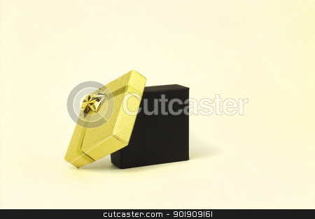 gift box stock photo, fine image of open gift box isolated on white background  by metrue