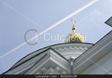 Dome of a church stock photo, Dome of a christian orthodox church. Religion concept by Lacroix