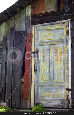 Old ruined doors stock photo, Old vintage ruined doors in realy bad condition. by Rimantas Abromas