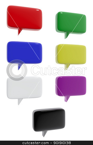 Communication icons of different colors stock photo, Communication icons of different colors by genialbaron