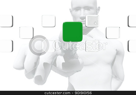 Consumer Selecting a Product stock photo, Consumer Selecting a Product by genialbaron