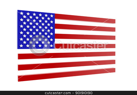United States flag in 3D stock photo, United States flag in 3D by genialbaron