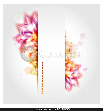 Abstract background with reddish elements stock vector clipart, Design of abstract background with reddish elements, text box and various bubbles and blinkies elements by Vladimir Repka