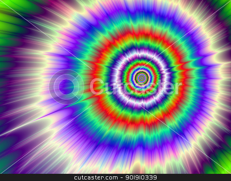 Color Explosion Tie-dye stock photo, Digital abstract image with a Tie-dye Color Explosion design in lilac, blue, purple, green, and red. by Colin Forrest