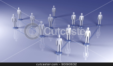 Social Network stock photo, Connected People. 3D rendered illustration.   by Michael Osterrieder