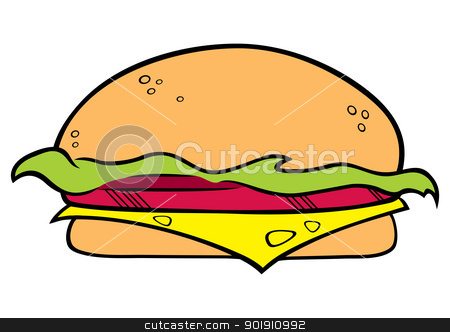 Hamburger symbol stock vector clipart, Illustration of the hamburger on white background by Oxygen64
