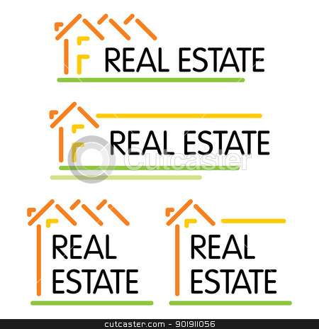 House symbol stock vector clipart, Concept symbol for real estate company by Oxygen64
