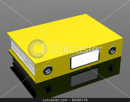 Yellow File For Getting The Office Organized stock photo, Yellow File For Getting Office Organized by stuartmiles