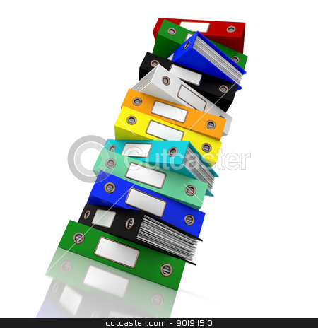 Stack Of Files For Getting Office Organized stock photo, Stack Of Files For Getting Organized by stuartmiles