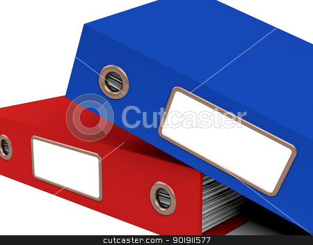 Stack Of Two Files For Getting Office Organized stock photo, Stack Of Two Files For Getting Organized by stuartmiles