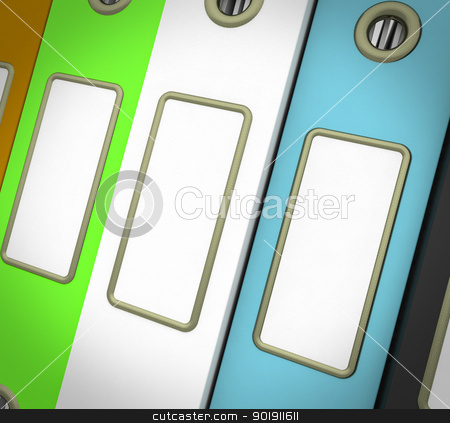 Row Of Three Files For Getting Organized stock photo, Row Of Three Colorful Files For Getting Organized by stuartmiles