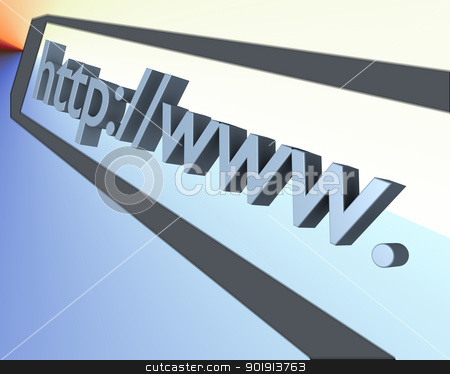 www text 3d stock photo, some www.text in 3d  by Tobias Arhelger