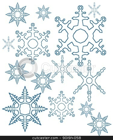different snowflakes mix background stock photo, different snowflakes mix background by Tobias Arhelger