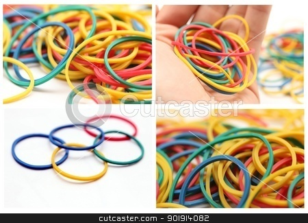 colourful rubber band mix stock photo, colourful rubber band mix by Tobias Arhelger