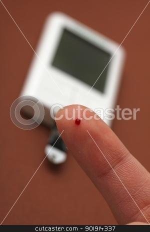 blood sugar measuring stock photo, blood sugar measuring by Tobias Arhelger