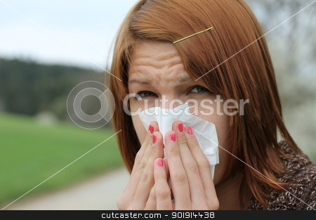 girl with flu stock photo, girl with flu by Tobias Arhelger