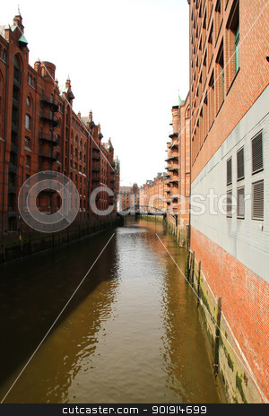 Historic building in the Speicherstadt in Hamburg   stock photo, Historic building in the Speicherstadt in Hamburg, Germany, Europe. by Michael Osterrieder