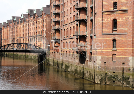 Speicherstadt in Hamburg stock photo, The famous Speicherstadt in Hamburg, Germany, Europe. by Michael Osterrieder