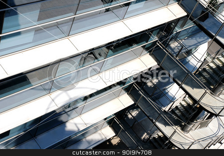 Modern Architecture Background stock photo, A modern architecture background of a industrial building. by Michael Osterrieder