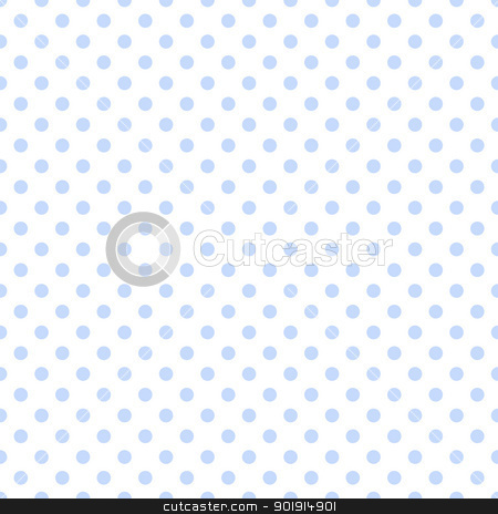 Pale Blue Polka Dots on White stock photo, Baby blue polkadots on white background by SongPixels