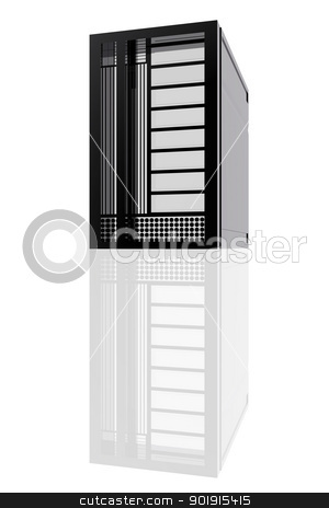 Computer server stock photo, Computer server by genialbaron