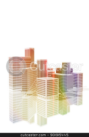 Office buildings in the city stock photo, Office buildings in the city by genialbaron