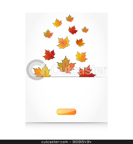 Fall maple leaves, autumn background stock vector clipart, Illustration fall maple leaves, autumn background - vector by -=Mad Dog=-