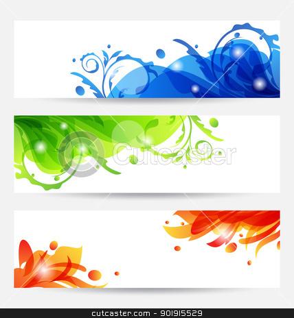 Set brochure templates with flower frames stock vector clipart, Illustration set brochure templates with flower frames - vector by -=Mad Dog=-