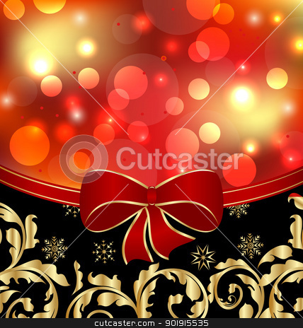 Christmas floral ornamental decoration for design packing stock vector clipart, Illustration Christmas floral ornamental decoration for design packing - vector by -=Mad Dog=-