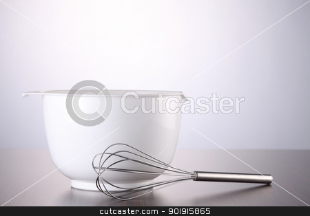 Wire Whisk  stock photo, Wire Whisk and a mixing bowl by eskaylim