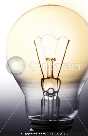 light bulb stock photo, close up of the light bulb by eskaylim
