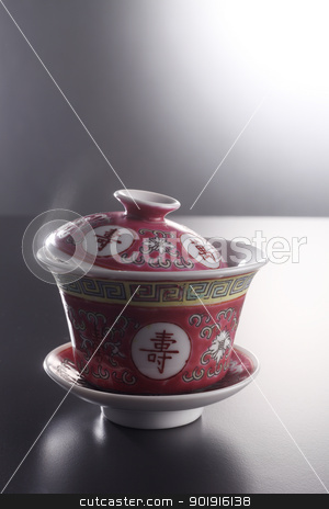 hot tea stock photo, close up of a cup of hot chinese tea by eskaylim