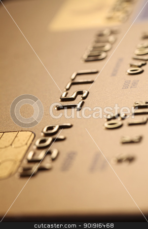 credit card stock photo, Detail of credit card, studio shot by eskaylim