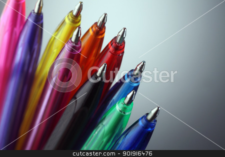 Colorful pens stock photo, close up of the Colorful pens by eskaylim
