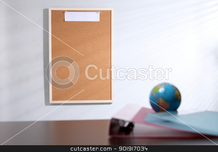 blank note stock photo, Business office notice board with copy space by eskaylim