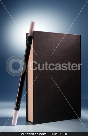 magic book stock photo, magic wand  rest on the book by eskaylim