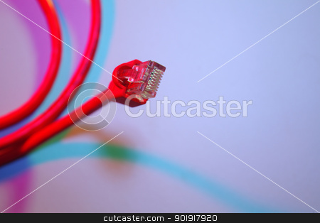 network stock photo, close up of the network cable  by eskaylim