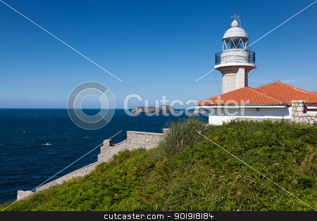 Lighthouse of Suances, Cantabria, Spain stock photo, Lighthouse of Suances, Cantabria, Spain by B.F.