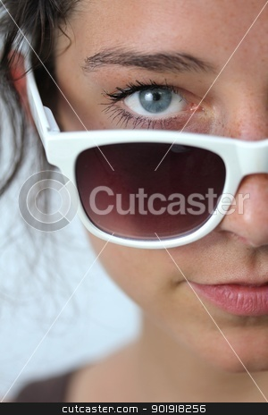 young woman with sunglasses stock photo, young woman with sunglasses by Tobias Arhelger