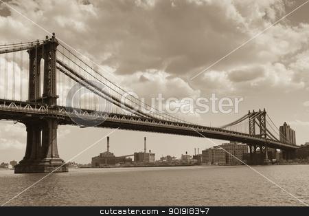 Manhattan bridge, New York, USA stock photo, Manhattan bridge, New York, USA by B.F.