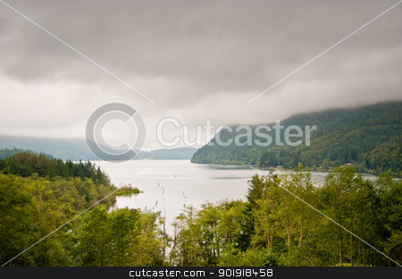 Lake Whatcom stock photo, Overlooking Lake Whatcom in WA by Jaime Pharr