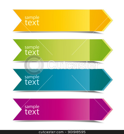 color arrows stock vector clipart, Collection of color arrows with place for text by Miroslava Hlavacova